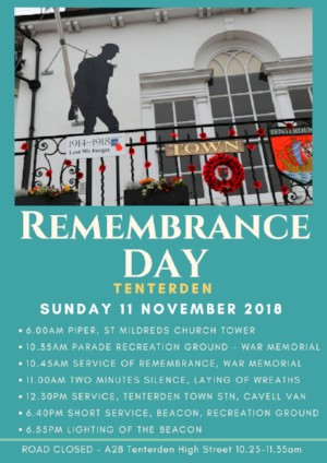Remembrance Day in Tenterden