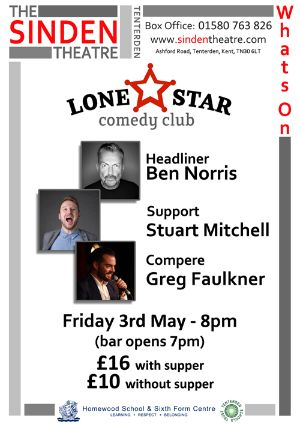 Lone Star Comedy Club The Sinden Theatre