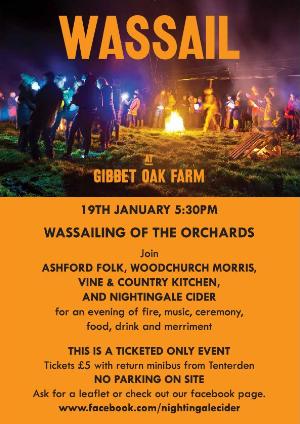 Wassail at Gibbet Oak