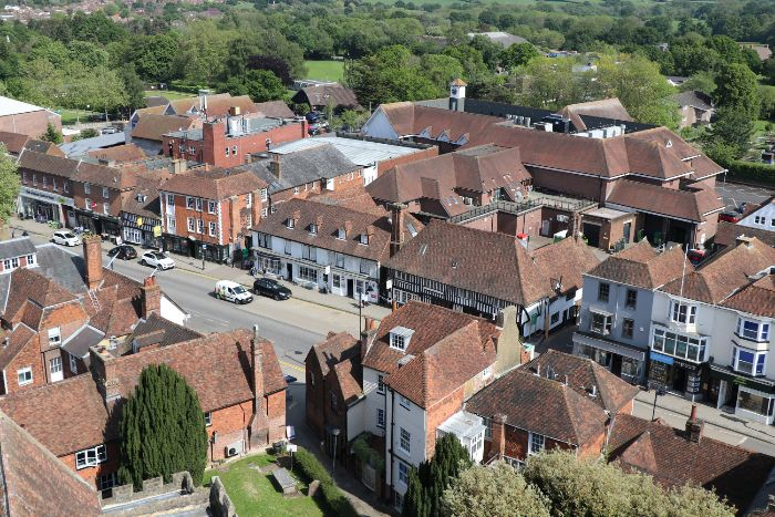 Views from St Mildreds Church Tower