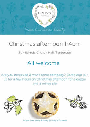 Christmas afternoon 1-4pm for bereaved