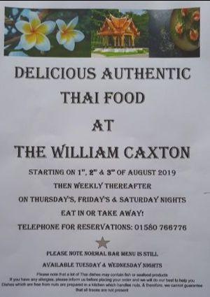 Thai Restaurant at the William Caxton