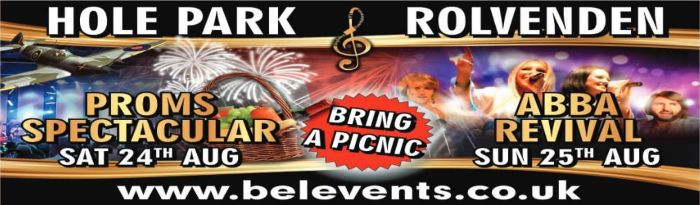 Proms Concert and Abba Concert at Hole Park Rolvenden