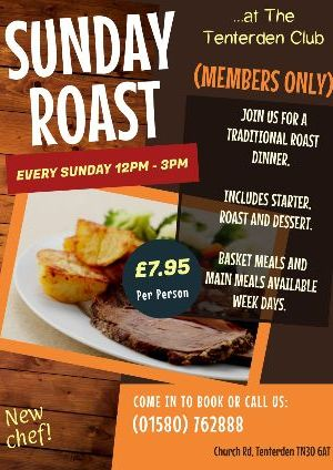 Sunday Lunch Tenterden Club