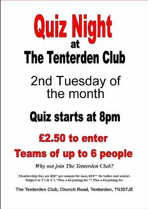 Quiz Night at the Tenterden Club