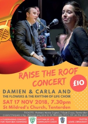 Raise The Roof Concert with Damien, Carla, Rhythm of Life Choir, The Flowers