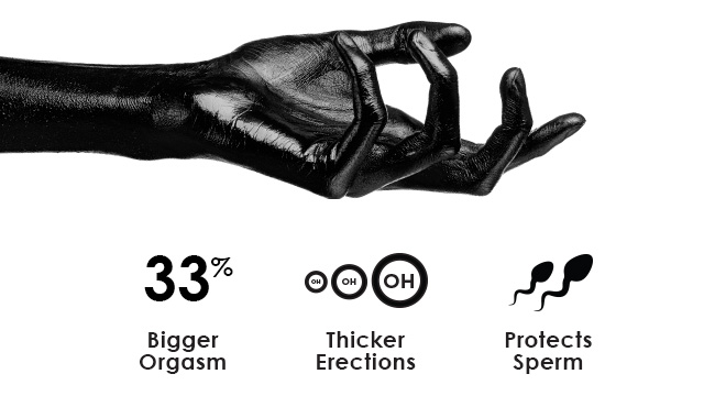 33% Bigger Orgasm / Thicker Erections / Protects Sperm