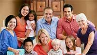 Intergenerational family photo