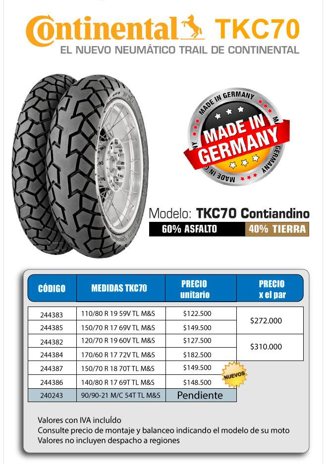 TKC70 precios