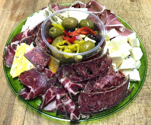 cured meat cheese platter