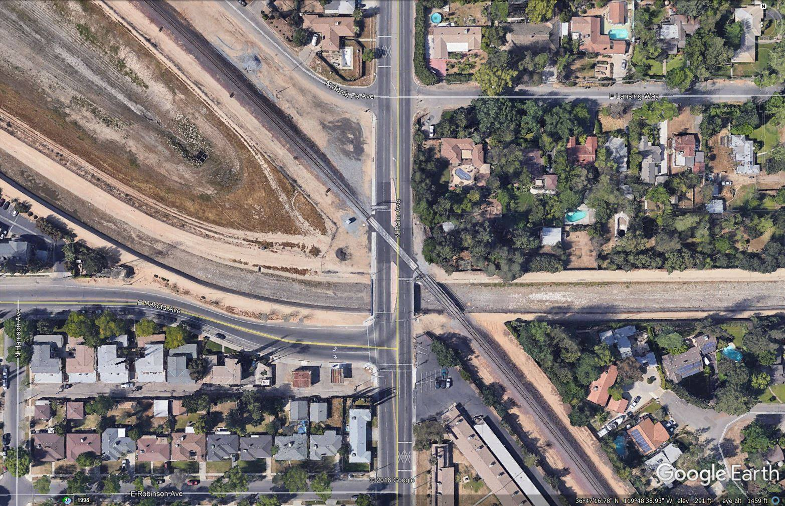 Skyview picture of intersection of Dakota and Ashlan