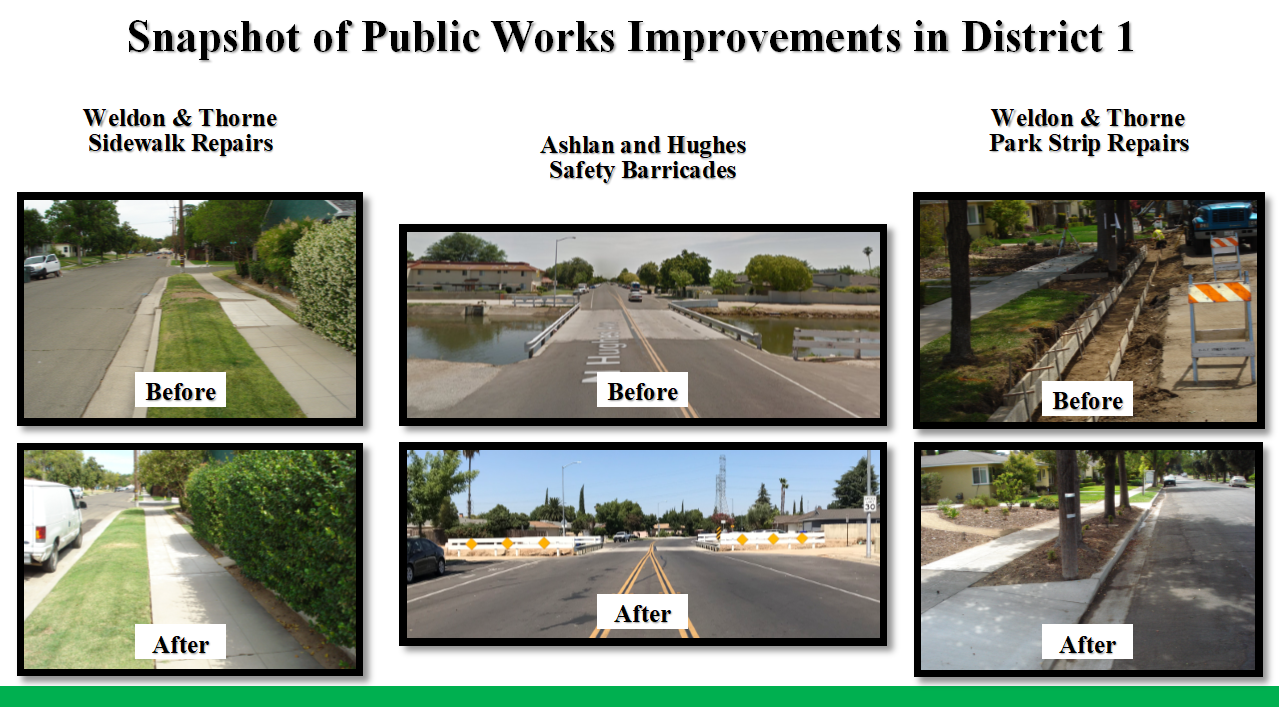 Examples of Public Works Improvements in District 1