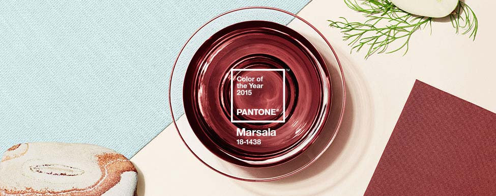 MARSALA PANTONE 18-1438 A naturally robust and earthy wine red, Marsala enriches our minds, bodies and souls