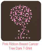 Pink Ribbon Breast Cancer Tree T-Shirt
