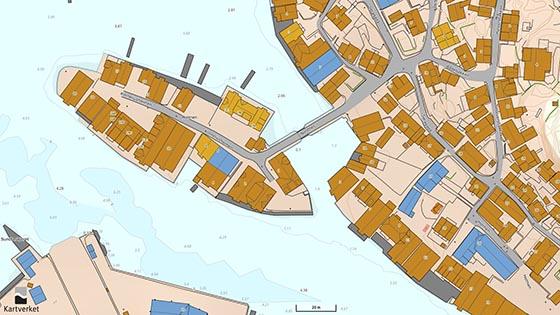 Kart fra Kartverket/norgeskart.no