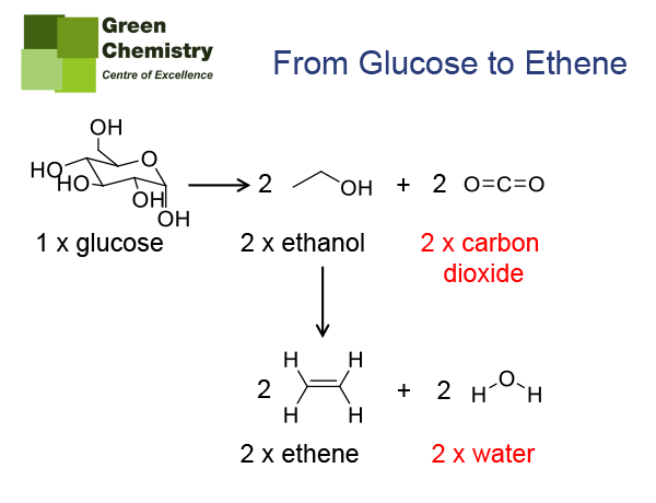 Figure 5: From glucose to bio-based ethene