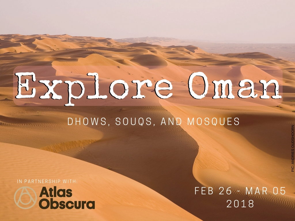 Join me in Oman next year!