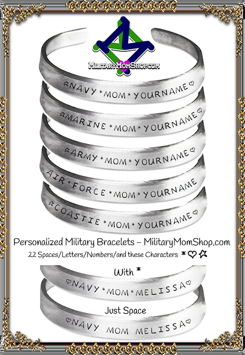 A few Personalized Military Bracelet Examples