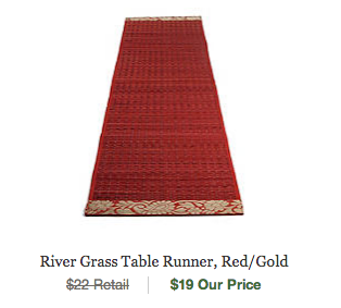 red eco-friendly table runner