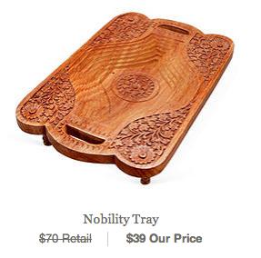 wooden handmade tray