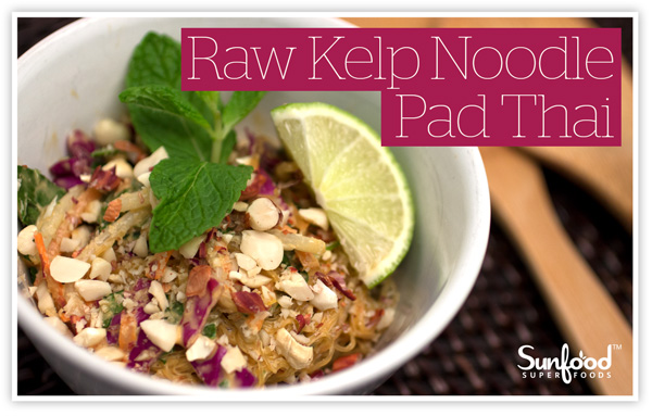 Raw Kelp Noodle Pad Thai