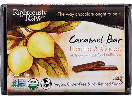 Righteously Raw, Caramel Cacao Truffle Bar
