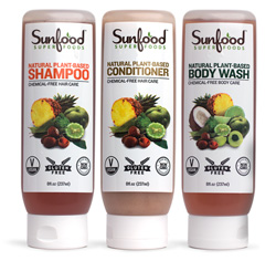Sunfood Natural Shampoo, Conditioner and Body Wash