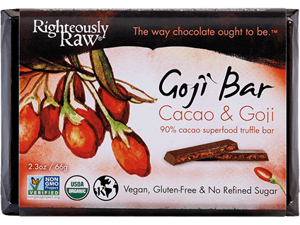 Righteously Raw, Goji Cacao Truffle Bar