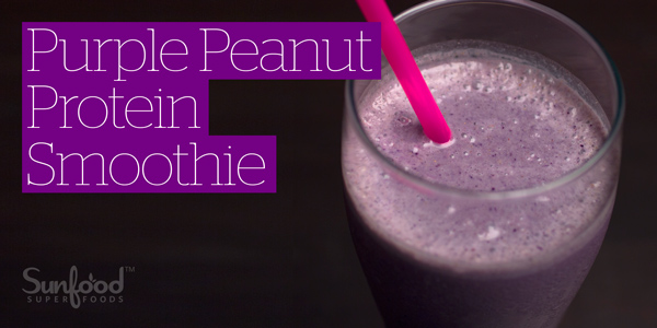 Purple Peanut Protein Smoothie