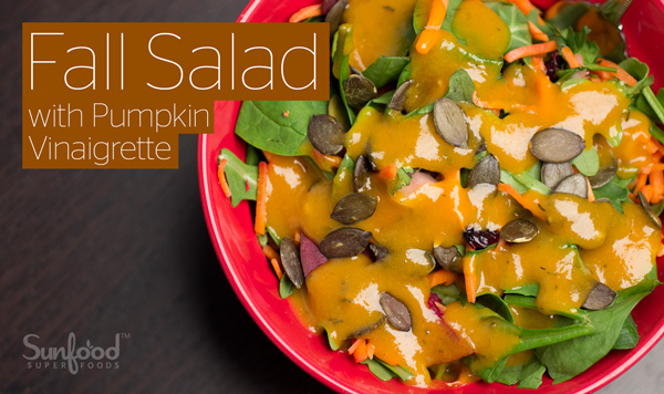 Fall Salad with Pumpkin Vinaigrette