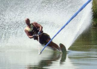 Dennis water skiing
