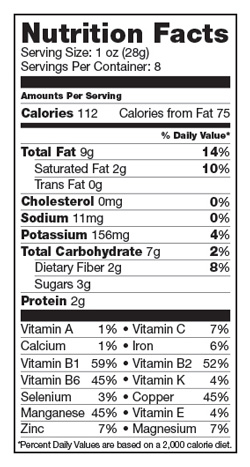 Mango Macadamia Adventure Nutrition Facts