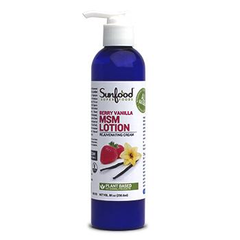 Sunfood MSM Lotion, Berry Vanilla