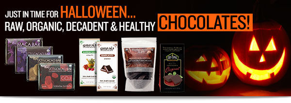 Just in time for Halloween, Raw, Organic Chocolates!
