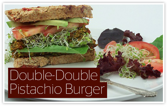 Double-Double Pistachio Burger