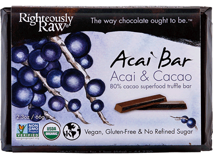 Righteously Raw, Acai Cacao Truffle Bar