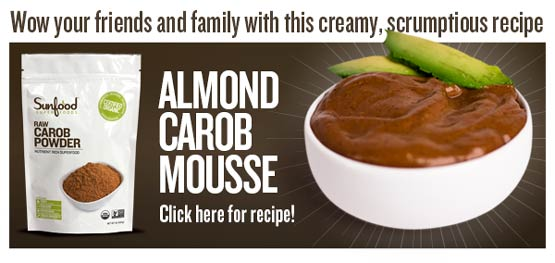 Almond Carob Mousse recipe