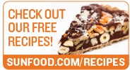 Check out our free recipes on sunfood.com/recipes