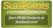 Earn FREE Products while shopping at Sunfood.com