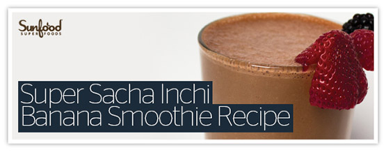 Super Sacha Inchi Banana Smoothie