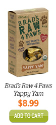 Add Brad's Raw 4 Paws Yappy Yams to Cart