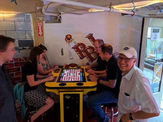 The Geeks engaged in Pac-Man