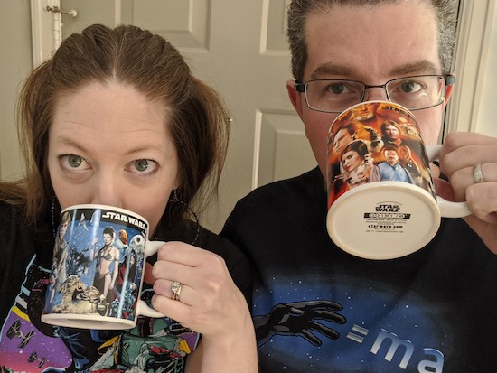 Rebecca & hubby prep for Star Wars!