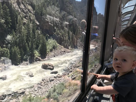 Isaiah and fam on a train ride