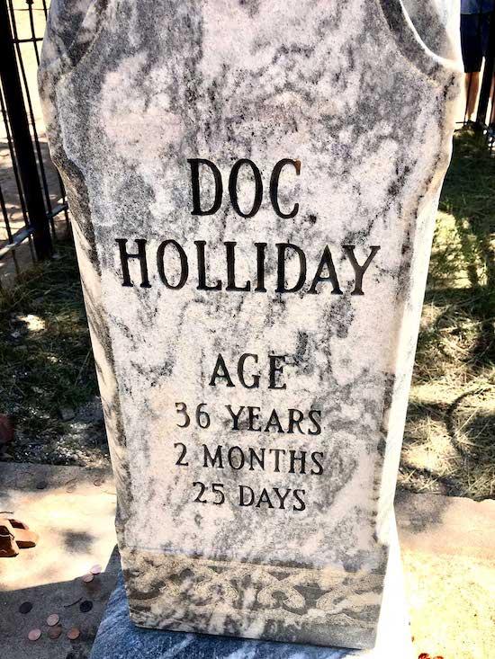 Doc Holliday's grave in Glenwood Springs