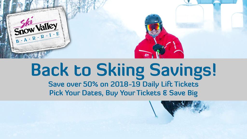 Back to Skiing Savings