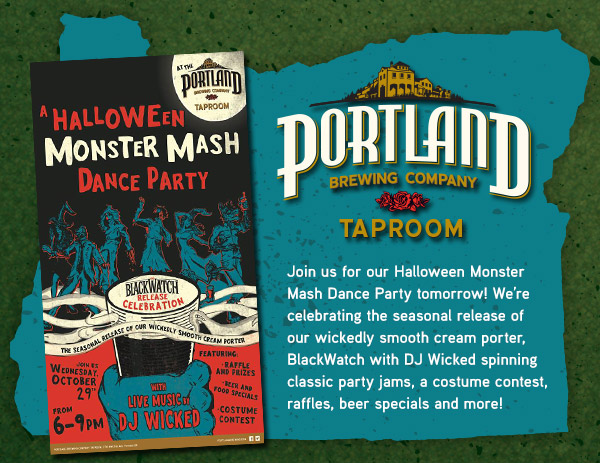 Join us for our Halloween Monster Mash Dance Party tomorrow!