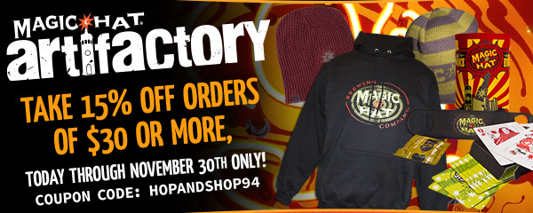 Artifactory Deal. Take 15% off orders of $30 or more, today through November 30th only!