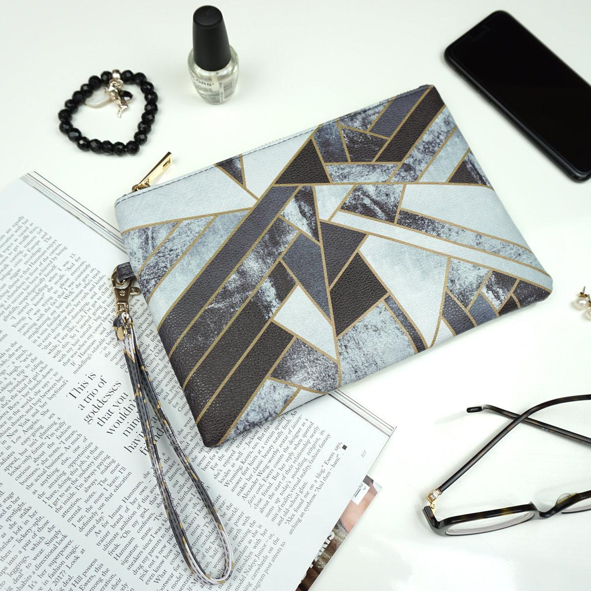 Fragments Clutch Bag