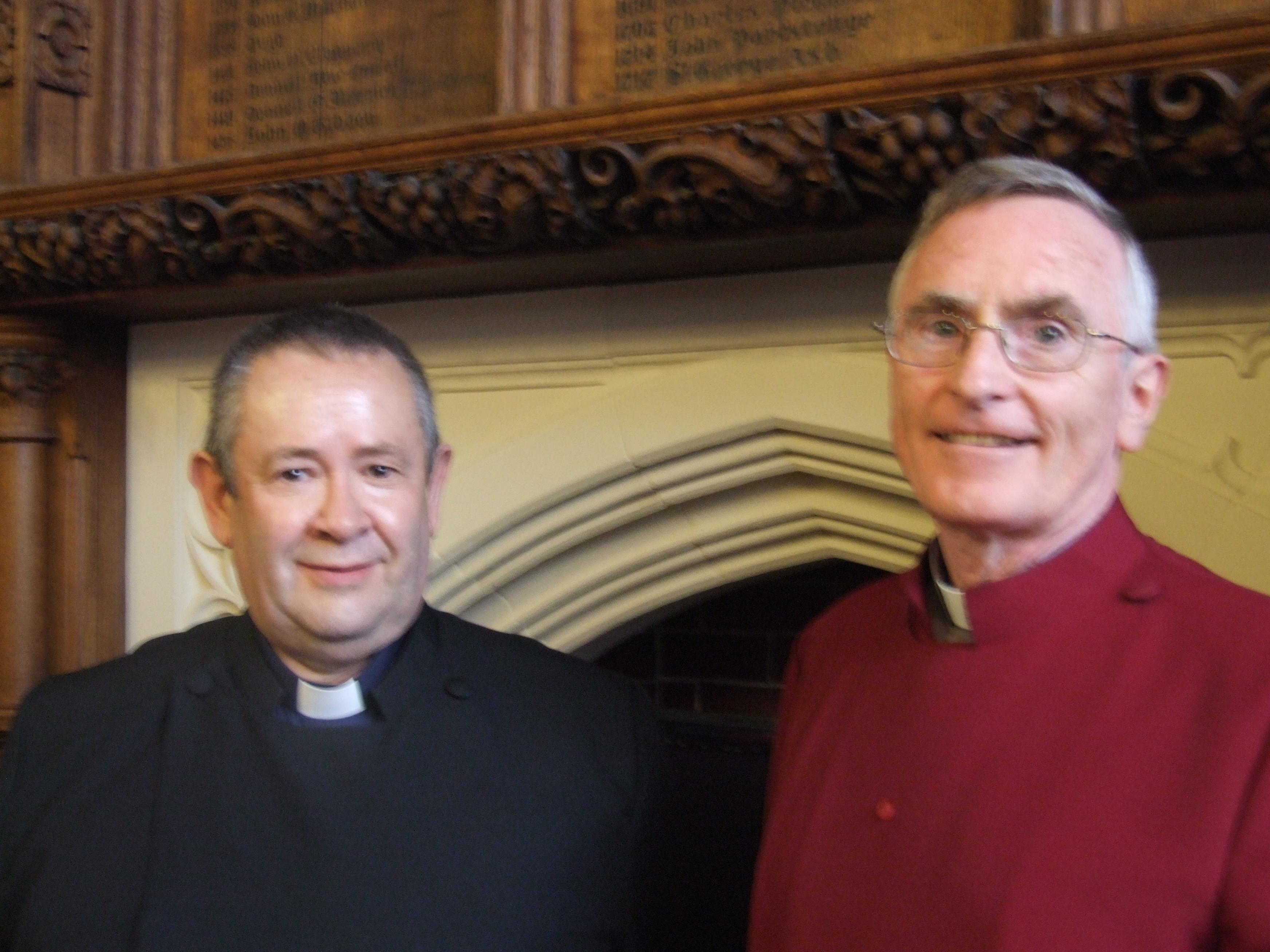 Rev Arthur Burns and Canon Derek Creighton